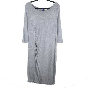 Seraphine Gray 3/4 Sleeve Maternity Dress 10